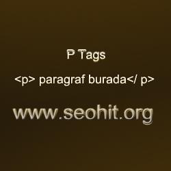 P Tags SEO P Etiketler