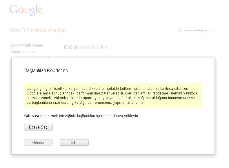 Google'ın Bağlantıları Reddetme Aracı Nasıl Kullanılır